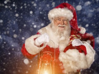 Santa Klaus. Mercatino Di Natale